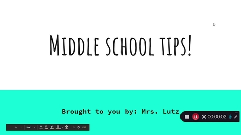 Thumbnail for entry Middle School Tips