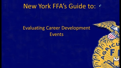 Thumbnail for entry NY FFA Guide to Evaluating Leadership CDEs