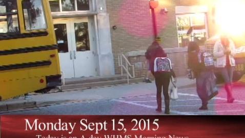 Thumbnail for entry 9-15-15 WHMS Morning News