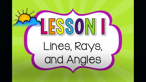 Thumbnail for entry Lines and angles review