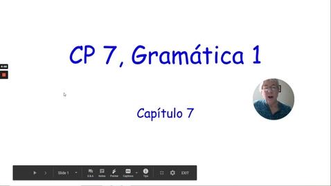 Thumbnail for entry CP 7 GRAMMAR 1