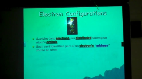 Thumbnail for entry Electron configuration pt. 1