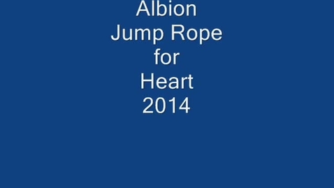Thumbnail for entry Jump Rope for Heart 2014