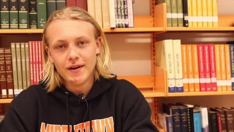 Thumbnail for entry Foreign exchange student Chris Wiingard shares about his experiences in America