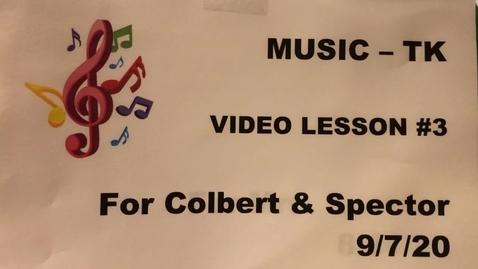 Thumbnail for entry Music TK Lesson #3.MOV