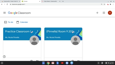Thumbnail for entry Google Classroom Navigation