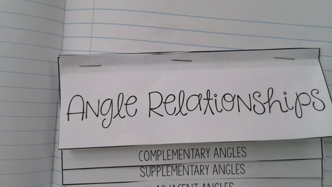 Thumbnail for entry Angle Pairs