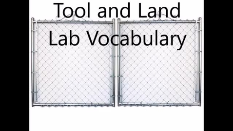 Thumbnail for entry landlabsafetyvocab