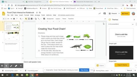 Thumbnail for entry Directions for Food Chain Slides.webm