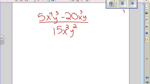 Thumbnail for entry Divide Polynomials classroom example 'C'