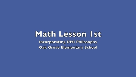 Thumbnail for entry Math Lesson 1st