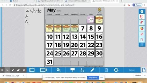 Thumbnail for entry Calendar May 7