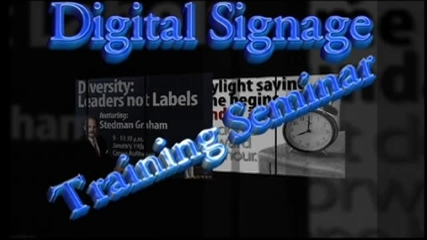 Thumbnail for entry Digital Signage Seminar Part2
