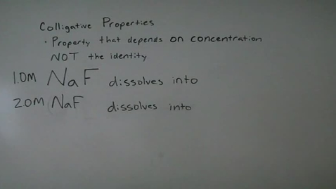 Thumbnail for entry 9.7 Colligative Properties 1 Intro