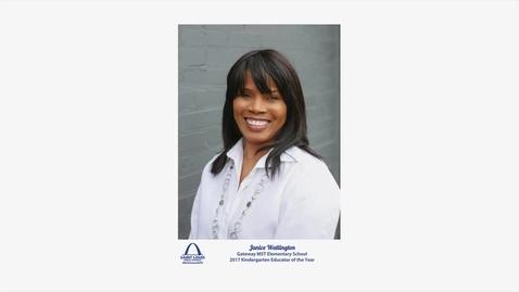 Thumbnail for entry Janice Watlington, Educator of the Year