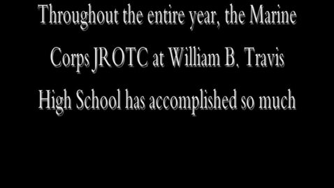 Thumbnail for entry Marine ROTC's First Year at THS