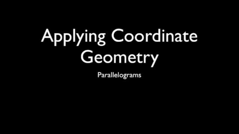 Thumbnail for entry Using Properties to Determine Coordinates