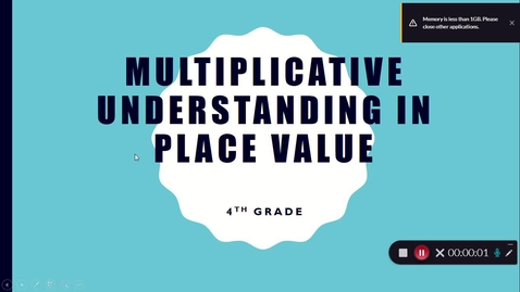 Thumbnail for entry Multiplicative Understanding in Place Value