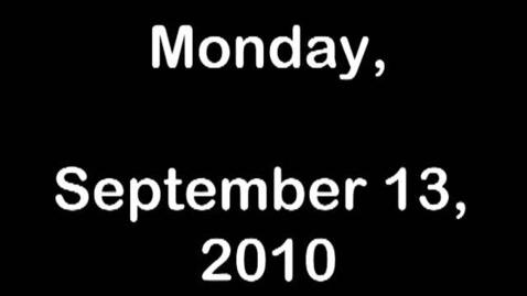 Thumbnail for entry Monday, September 13, 2010