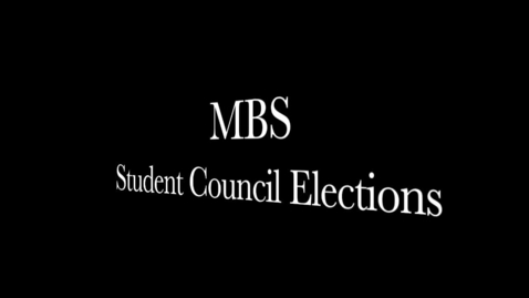 Thumbnail for entry Student Council Elections