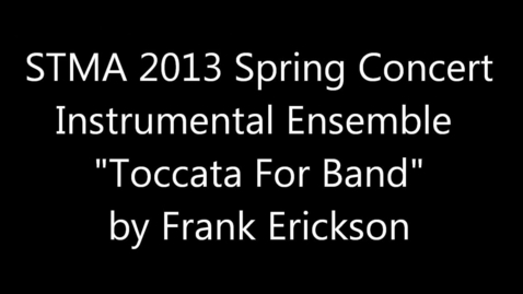Thumbnail for entry Toccata For Band