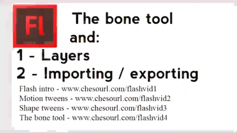 Thumbnail for entry The bone tool and layers, and publishing and importing.