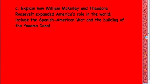 Thumbnail for entry Spanish American War and Panama Canal Video Lesson
