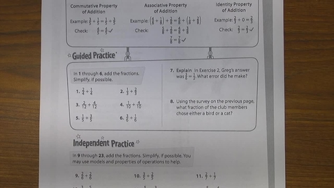 Thumbnail for entry Independent Practice Instructions