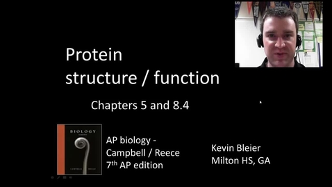 Thumbnail for entry Macromolecules part 2 of 2 (protein structure and function)