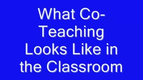 Thumbnail for entry Co Teaching Strategies