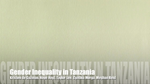 Thumbnail for entry Tanzania PSA: Gender Inequality