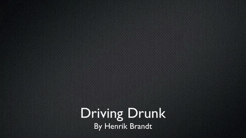 Thumbnail for entry Don't Drink and Drive