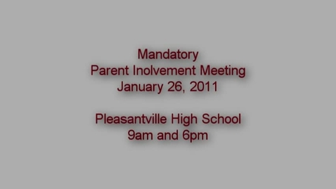 Thumbnail for entry Parent Involvement Meeting