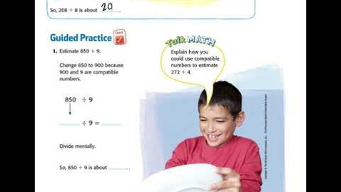 Thumbnail for entry 5th Grade Math Chapter 3 Lesson 5:  Estimate Quotients