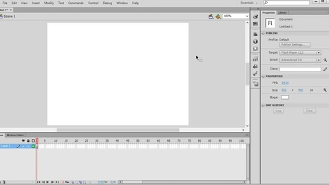 Thumbnail for entry How to morph text in Adobe Flash CS6