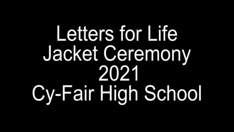 Thumbnail for entry Letters for Life 2021