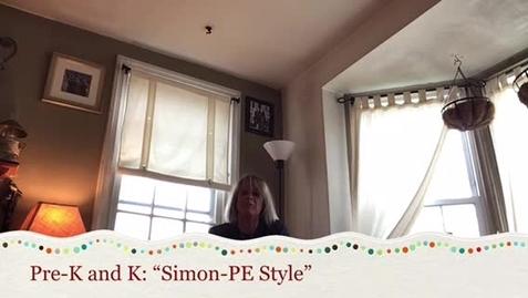 Thumbnail for entry Pre-K and K Fitness Challenge: Simon