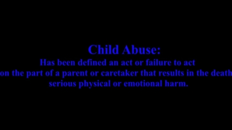 Thumbnail for entry Child Abuse PSA