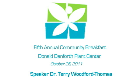 Thumbnail for entry LEF Community Breakfast - Dr. Terry Woodford-Thomas