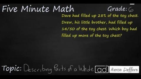 Thumbnail for entry 6th Grade Math Describing Parts of a Whole