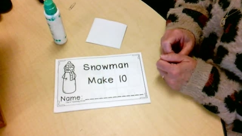 Thumbnail for entry Math:  Snowman Counting Book