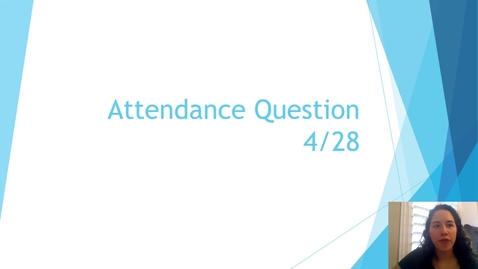 Thumbnail for entry Attendance 4-28
