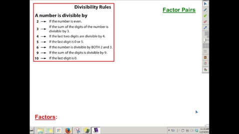 Thumbnail for entry Finding Factors With Divisibility Rules