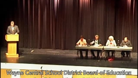 Thumbnail for entry Wayne Central Board Of Education 5-1-2014 Candidates Night