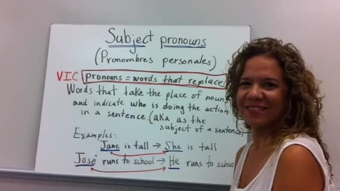 Thumbnail for entry Subject pronouns in Spanish