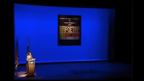 Thumbnail for entry Tong Thao at the National Poetry Out Loud Competition