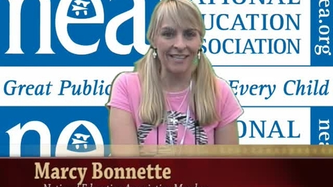 Thumbnail for entry NEA Convention: Marcy Bonnette