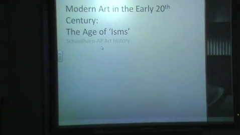 Thumbnail for entry Introduction to 20th century art