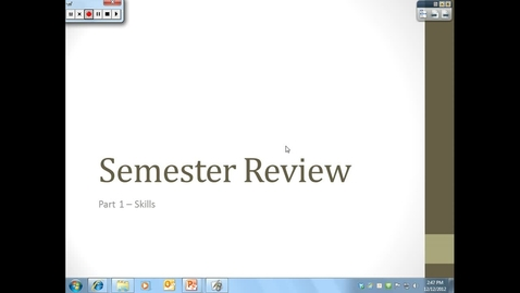 Thumbnail for entry Semester Review Part 1