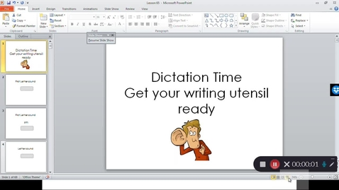 Thumbnail for entry Lesson 65 Phonics Friday
